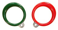 DLH-B01 METAL ROUND TRAPEZE RINGS, PLASTISOL COATED