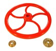 DLH-W01 ALUMINIUM STEERING WHEELS AND RED PAINT COATED (WITHOUT LEAD)
